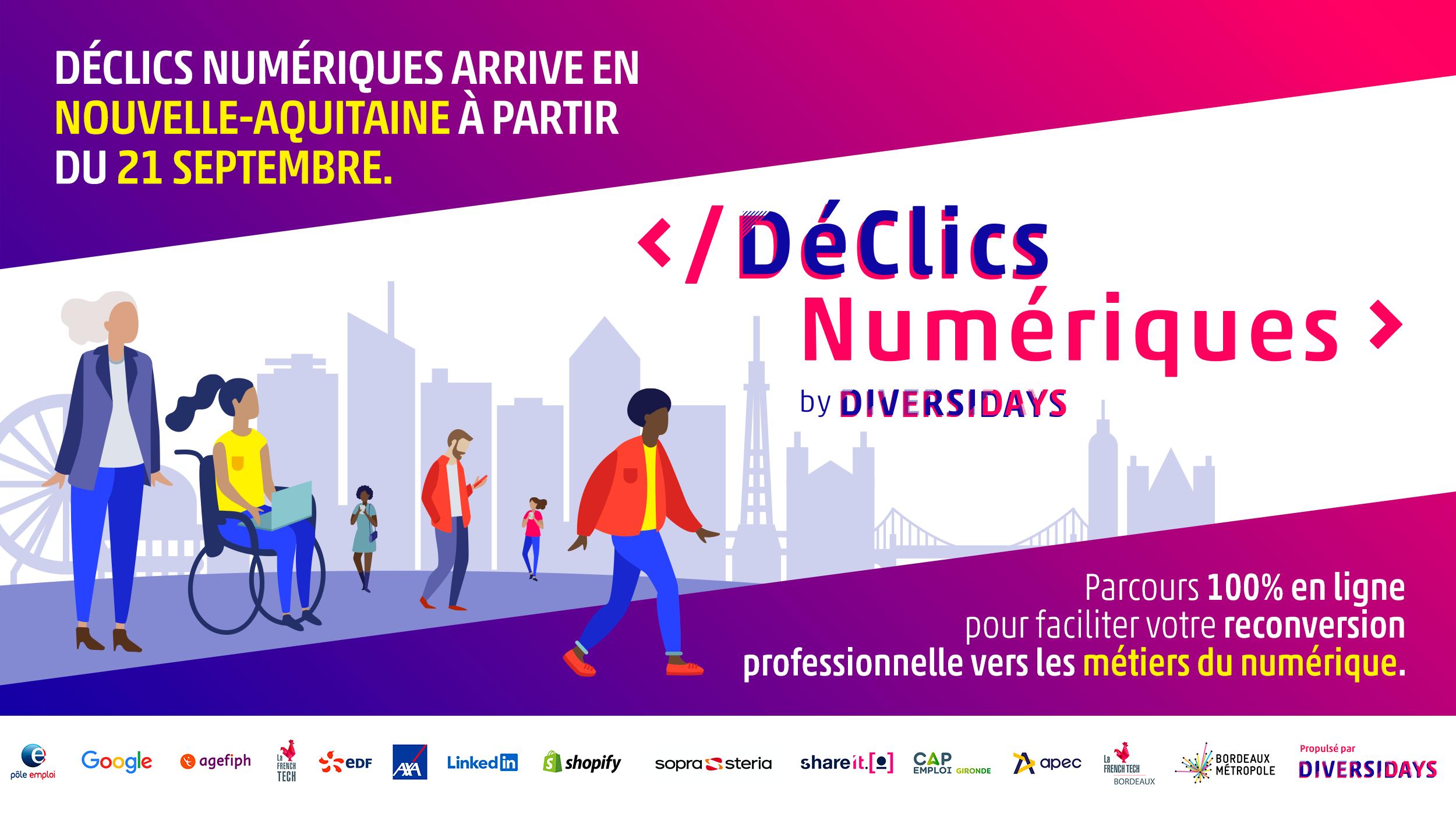 Visuel lancement DéClics Numériques Nouvelle-Aquitaine